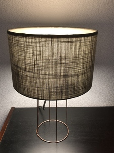 Tischleuchte Pure in taupe - my lamp