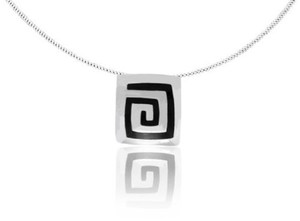 Kette Silber Azteken-Spirale Anhänger handmade sustainable Fair-Trade - pakilia