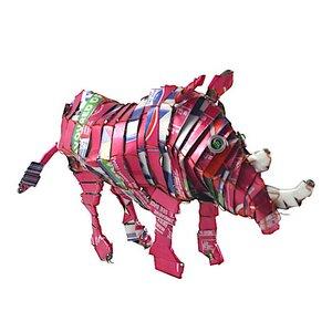 Nashorn Blechtier - M - Upcycling Township Art Africa - Little Zim