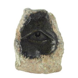 All Seeing Eye - Steinkunst aus Afrika - M - Little Zim