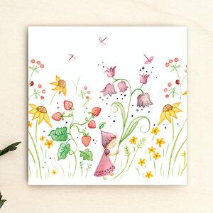 Grußkarte // Blumenmädchen - anabellstellmacher