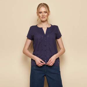 Bluse SHAKA aus Biobaumwolle, GOTS-zertifiziert - TRANQUILLO