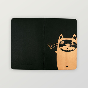 """Mr.Cat"" EDLES NOTIZHEFT, ca. A6 liniert - HANDGEDRUCKT"