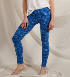 Legging blue diamonds aus Bio-Jersey - Lena Schokolade