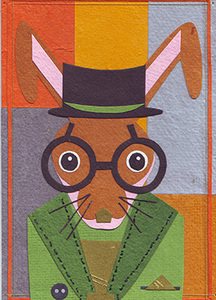 Eco & Fair - Osterkarte - Gentleman Hare - Cards from Africa - Cards from Africa