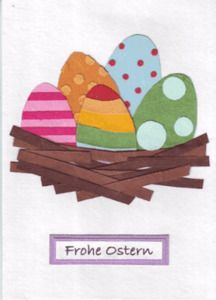 Eco & Fair - Osterkarte - Eggs in One Basket - Cards from Africa - Cards from Africa