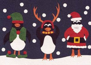 Eco & Fair - Weihnachtskarte - Christmas Penguins - Cards from Africa - Cards from Africa