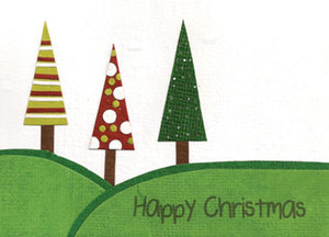 Eco & Fair - Weihnachtskarte - Three Trees for You - Cards from Africa - Cards from Africa