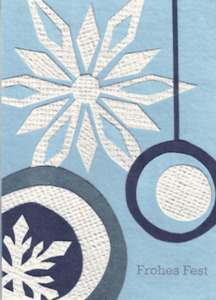 Eco & Fair - Weihnachtskarte - Snowflake - Cards from Africa - Cards from Africa