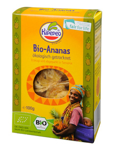 Bio Trockenfrüchte - Ananas - 100g - Kipepeo