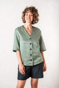 Shirt Barunie Moosgrün - Jyoti - Fair Works