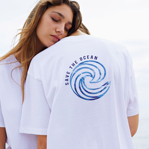 Reine Biobaumwolle - FairFashion T-Shirt lässig / Save the Ocean - Kultgut