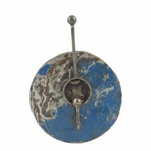 Upcycling Ölfass Garderobe - 1fach - Blau & Rot - 20cm - Moogoo Creative Africa