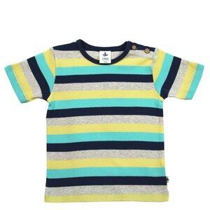 Kurzarmshirt Ringelshirt Bio-Baumwolle T-shirt Gestreift Ephesus - Leela Cotton