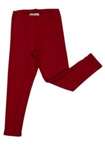 Leggings Bio-Baumwolle Hosen kirschrot - Leela Cotton