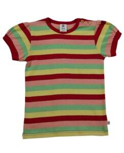 Kurzarmshirt Ringelshirt Bio-Baumwolle T-shirt Gestreift Pergamon - Leela Cotton