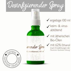 Desinfizierender Spray - mit ätherischen BIO-Ölen - Calmterra