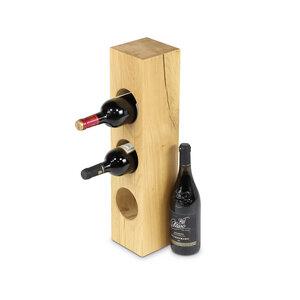 Weinregal Weinflaschenhalter Weinständer Eiche Massivholz 3-9 Flaschen - GreenHaus