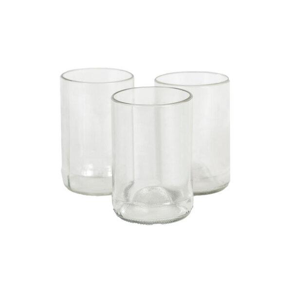 Upcycling-Glas 2er-Set in 2 Größen und 2 Farben