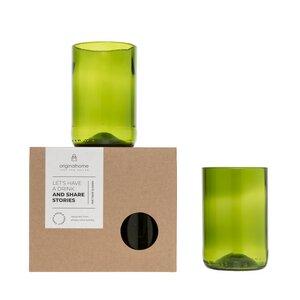 Upcycling-Glas 2er-Set in 2 Größen und 2 Farben - Originalhome