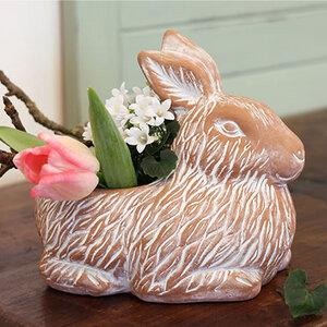 Blumentopf Hase aus Ton - Mitienda Shop