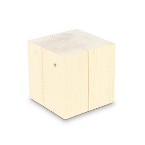 Holzblock 30x30cm Fichte ungeölt Massivholz Beistelltisch - GreenHaus