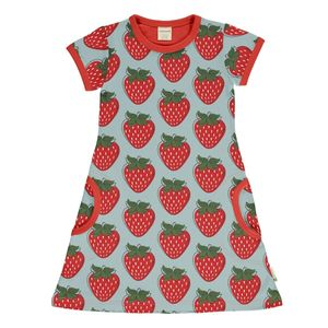 T-Shirt Kleid strawberry GOTS - maxomorra