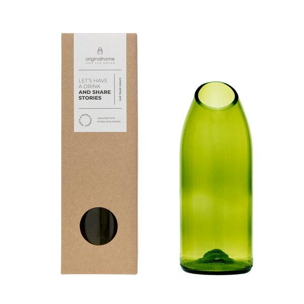 Upcycling-Glaskaraffe in 2 Farben