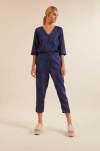 Jumpsuit in Wickeloptik aus Tencel Lyocell - LANIUS