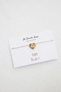 Team Bride/ Bride Armband II aus Edelstahl, vergoldet | mit Gravur - Oh Bracelet Berlin