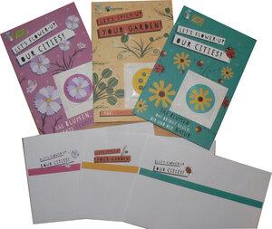 Set mit 3 Grußkarten mit Samen  - EUGEA