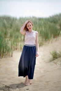 Langer Rock mit Glitzergummibund 'A-Line Skirt' - Alma & Lovis