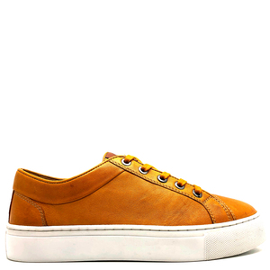 "Sneaker aus vegetabil gegerbtem Leder von ""thies ®"" yellow - thies"