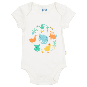 Kite Baby Kurzarm-Body Farm Garden reine Bio-Baumwolle - Kite Clothing