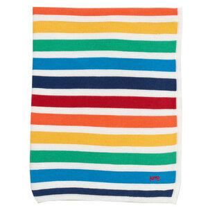 Kite Baby Strick-Decke Regenbogen reine Bio-Baumwolle - Kite Clothing