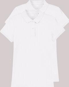 2er Pack Damen Poloshirt aus Bio-Baumwolle, fair gehandelt, versch. Farbkombi - YTWOO