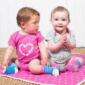 Kite Baby Kurzarm-Body Blümchen 2er Pack reine Bio-Baumwolle - Kite Clothing