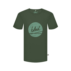 Dot Logo T-Shirt Forestfibre Dunkelgrün - bleed