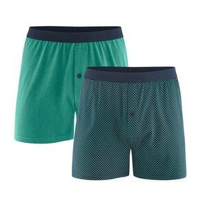 Living Crafts Herren Boxer-Shorts 2er-Pack Bio-Baumwolle ETHAN - Living Crafts