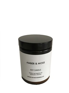 SOYA DuftKerze  Amber & Moss - MYWOODNESS