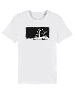 "Bio Faires Herren T-Shirt ""Ahoi Boot"" - white - ilovemixtapes"