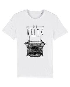 Bio Faires Herren T-Shirt Schreibmaschine - white - ilovemixtapes