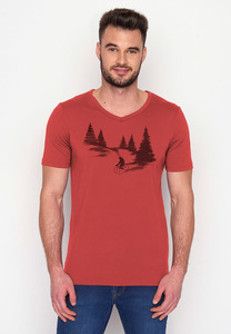 T-Shirt Peak Nature Bear Romantic - GreenBomb