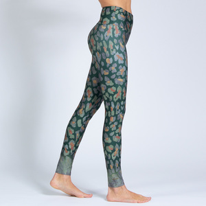 Yoga Leggings MOSS LEO aus Funktionsmaterial - Magadi
