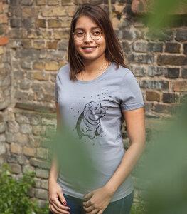Nick Nilpferd - Fair Wear Frauen T-Shirt - LavaGrey - päfjes