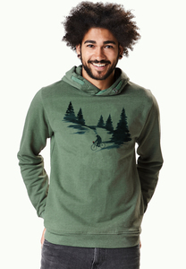 Hooded Sweater Star Nature Bear Romantic - GreenBomb
