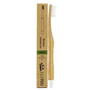 Bambus Zahnbürsten 1er Set - Vegane Holzzahnbürste - Borsten: Mittel - EcoYou