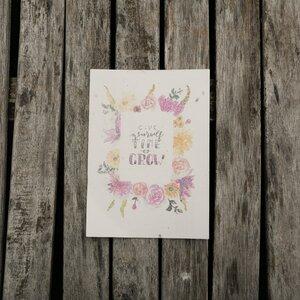 Postkarte mit Samen zum Anpflanzen  - ingegerd Ökolifestyle