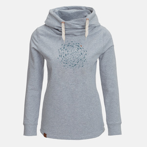 Hooded Sweat Lucky Animal Fish Circle - GreenBomb