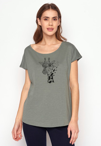 T-Shirt Cool Animal Giraffe - GreenBomb